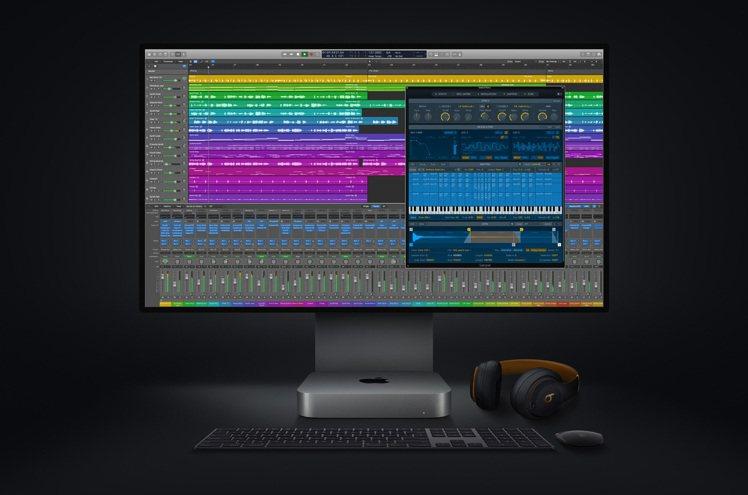 全新Mac mini大幅提升音樂製作能力,可在Logic Pro中使用數量最多可...