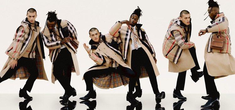 BURBERRY發表了一全新的視覺,呈現了品牌經典風衣的帥氣自由。圖/BURBE...