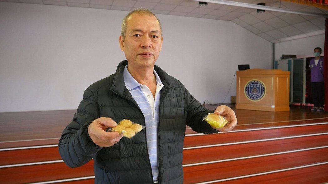 金門監獄此次邀請烈嶼鄉合成餅舖創辦人林信光老師教授受刑人做出好吃的豆沙餅、一口酥...