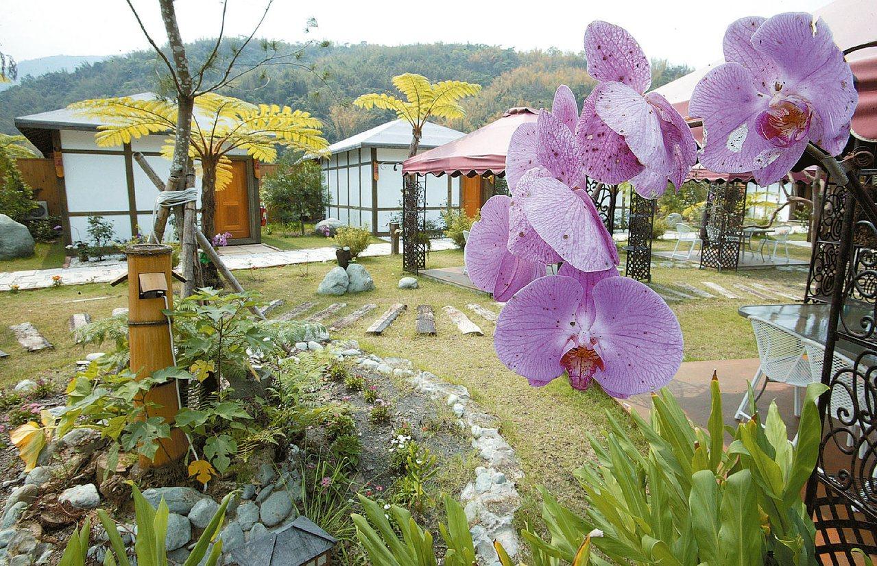 六龜國蘭花園溫泉山莊,風景迷人。  圖/唐郡威 攝影