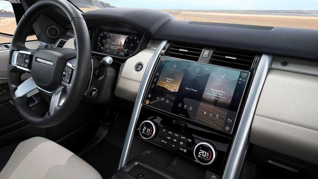 12.3 吋全數位虛擬儀錶加上1.4吋全高清觸控螢幕的前台組合。 圖/Land ...