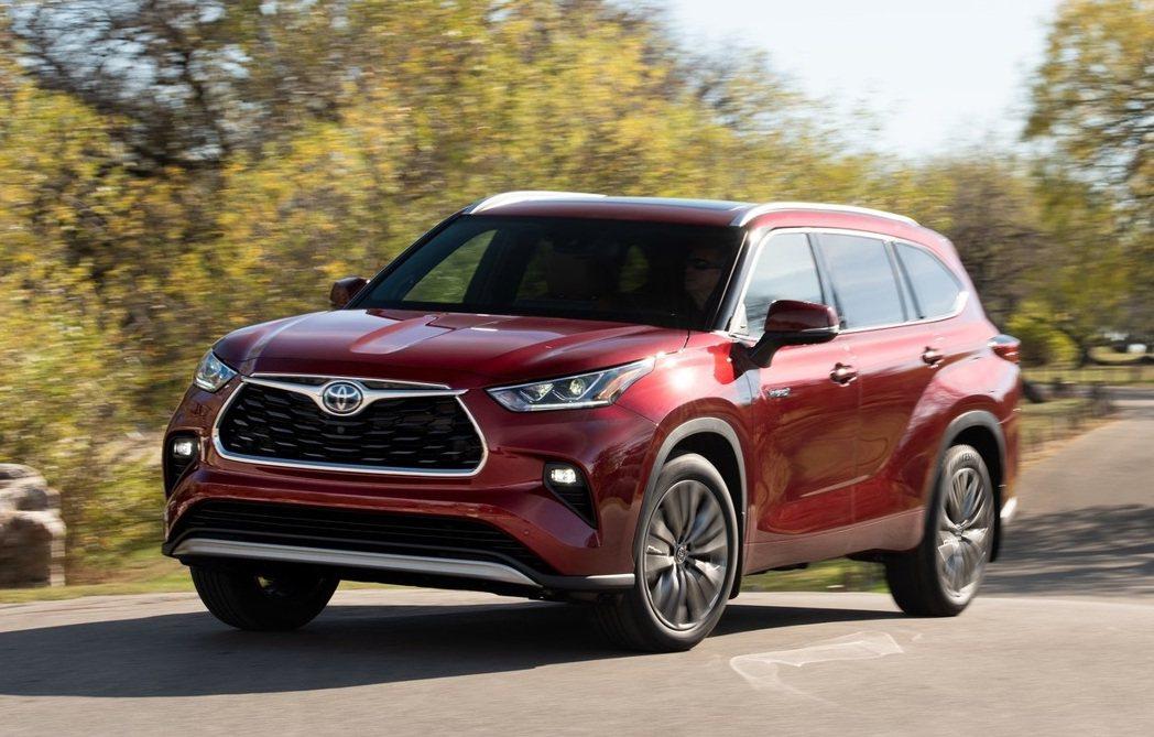 2020 Toyota Highlander。 圖/Toyota提供