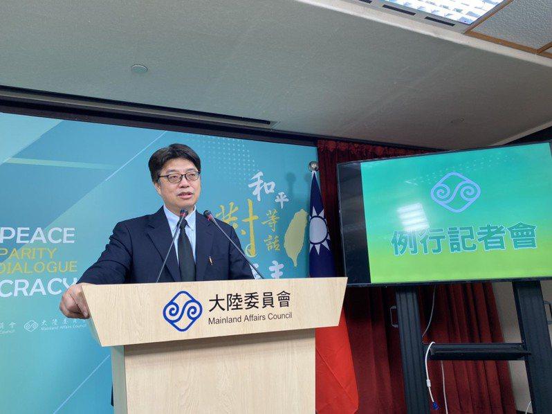 陸委會發言人邱垂正。 聯合報系資料照片/記者呂佳蓉攝影