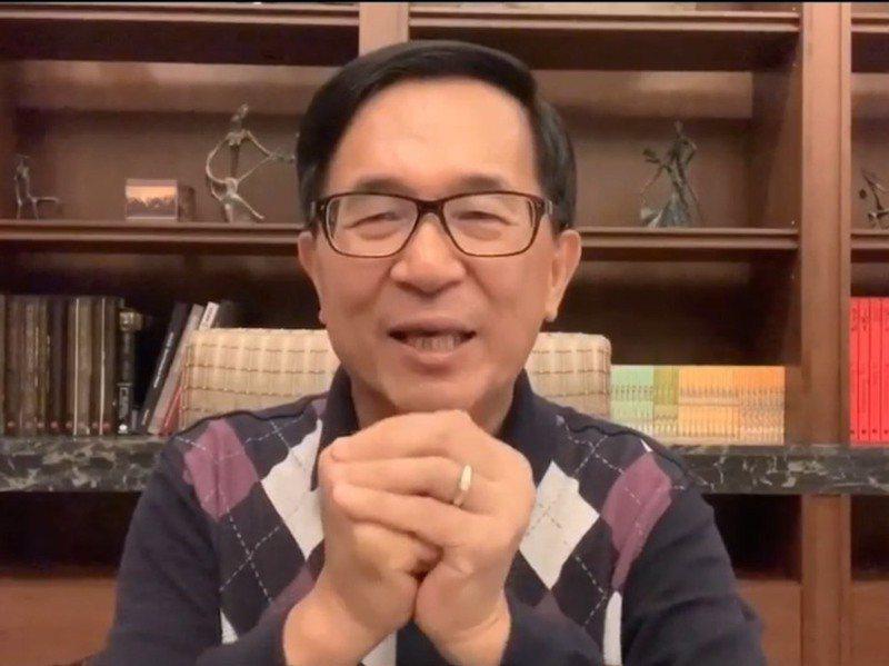 美國總統選舉結果,前總統陳水扁先前預言會與選前民調差不多,果然所言不假。圖/翻攝一邊一國行動黨Line群組