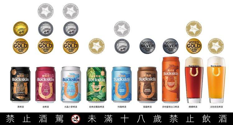 柏克金啤酒今年於英、日、德三大國際啤酒競賽中拿下總計8金8牌合共16面獎牌,頻獲...