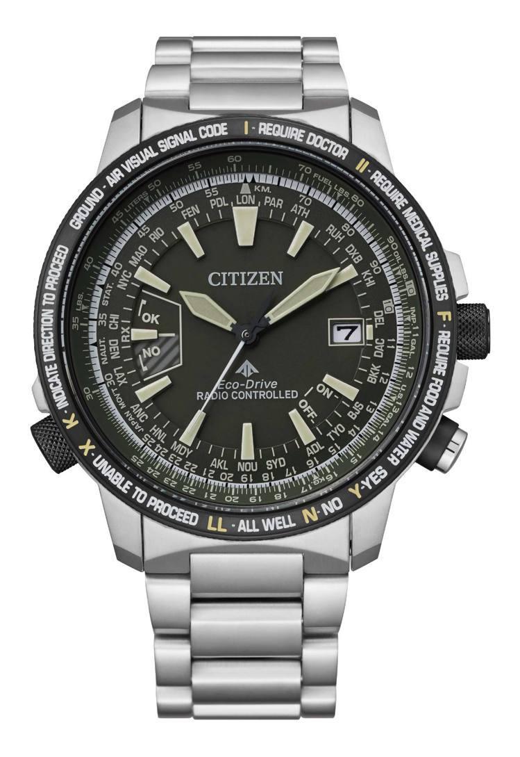 CITIZEN光動能CB0206-86X全球電波飛行腕表,鈦金屬表殼、表鍊,限量...