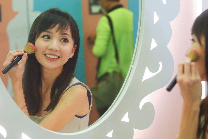 捷運高鐵站興建五星級女性廁所,採用瑪莉公主風,有化粧鏡可供女性使用。記者黃仲裕/攝影
