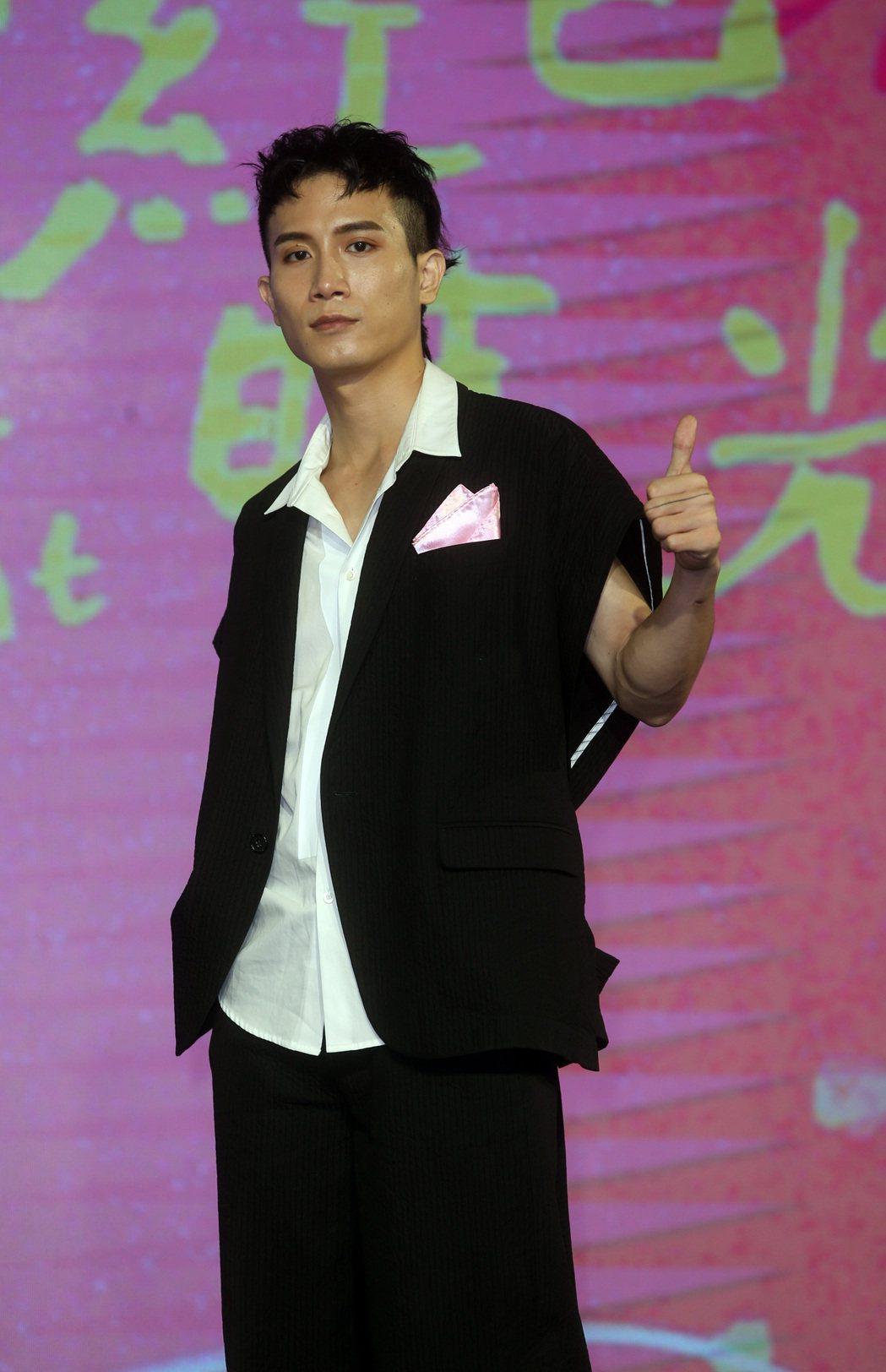 陳彥允出席「粉紅色時光」首映會。記者曾吉松/攝影