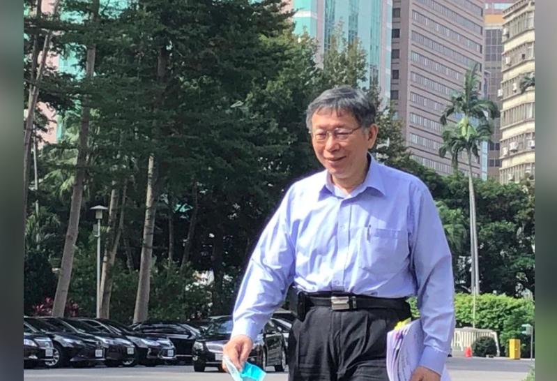 台北市長柯文哲今天赴行政院會提出萊豬四點建議。本報資料照片