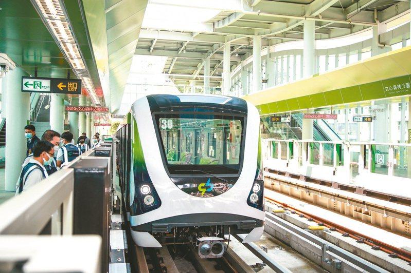 台中捷運綠線昨天開放試乘。記者喻文玟/攝影