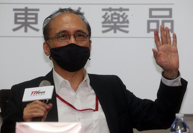 台灣東洋代理疫苗破局,引發炒股聯想,董事長林全昨親上火線說明。記者曾吉松/攝影