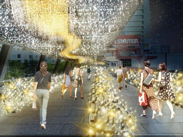 設計理念為一座前往公主國度的繁星光廊。 圖/新北市觀光旅遊局提供