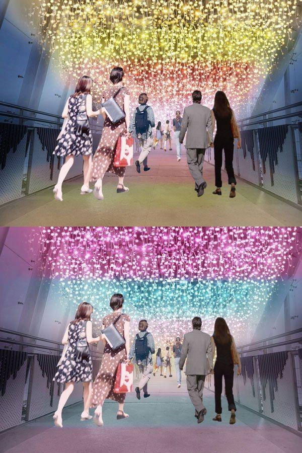 每走幾步路就是不同的顏色,穿越各種五顏六色,就像前方永遠有不同的驚喜在等待著我們...