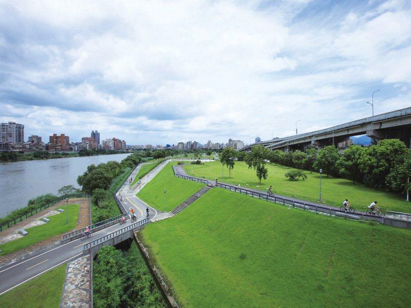 景美河濱公園實景。 圖/玖原建設有限公司提供