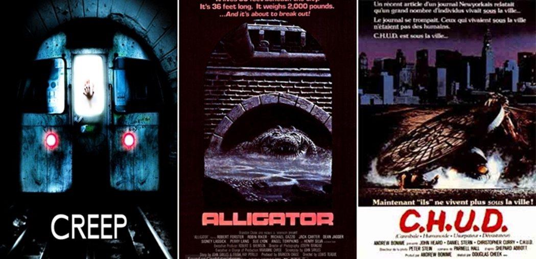 圖/《噬血地鐵站》(2004)、《大鱷魚》(1980)《C.H.U.D.》(1...
