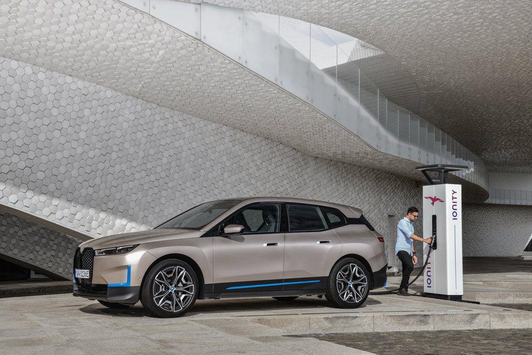 BMW iX最大續航距離超過600公里。 摘自BMW