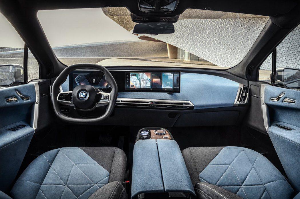 BMW iX內裝完全走向前衛風格。 摘自BMW