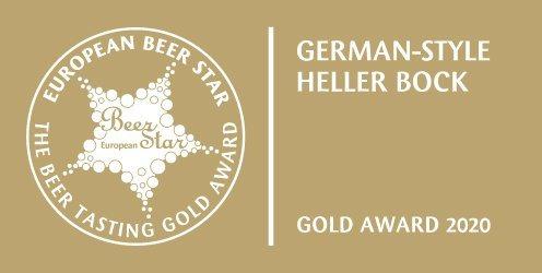 柏克金淡色勃克啤酒獲頒2020年德國EBS歐洲啤酒之星金牌。業者/提供