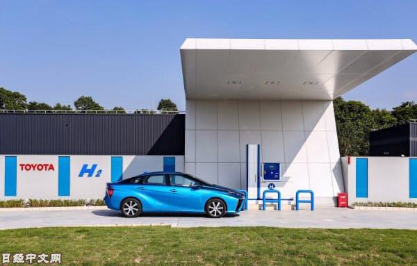 豐田在江蘇設置的用於驗證試驗的加氫站