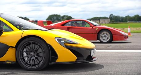 影/Ferrari F40 vs. McLaren P1!新世代科技與經典之戰