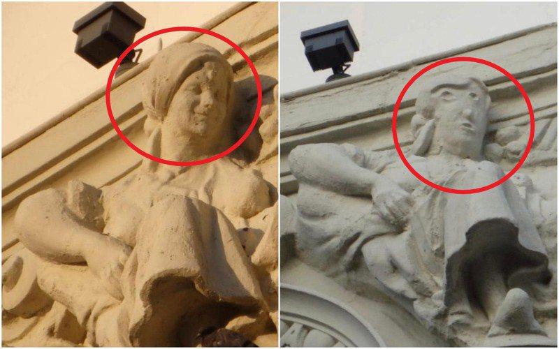 西班牙西北部城市帕倫西亞(Palencia)有一座被裝飾在建築外牆上的雕像,近日被揭經過災難性的「修復」,慘被毀容,從一名微笑的女子變成「眼歪嘴斜」的大叔。美聯社