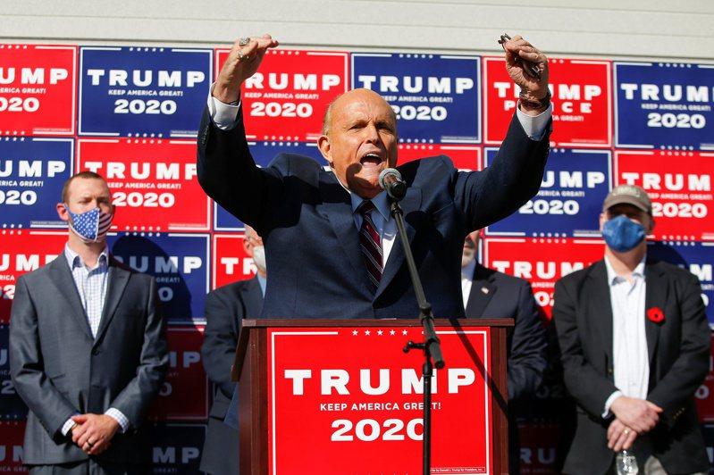 美國總統川普的私人律師、前紐約市市長朱利安尼。路透