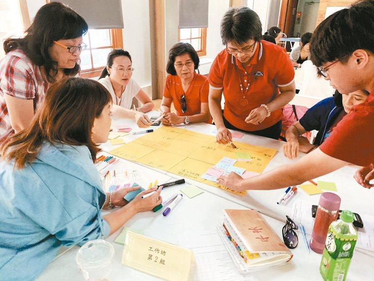 辦理運用設計思考推動失智友善社區工作坊。 圖/台北市政府提供
