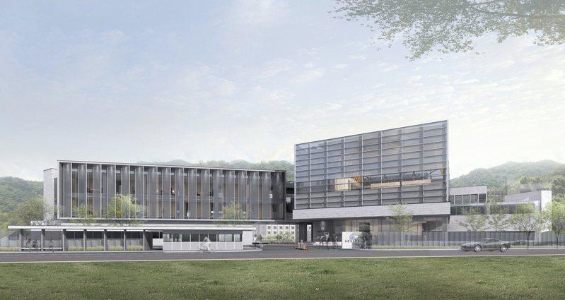 台電競圖首獎建築師黃明威兼顧現代開放設計與節能效益,且跳脫公部門的新穎外型形象,成為其競圖獲青睞決勝點,圖為完工模擬圖。圖/台電提供