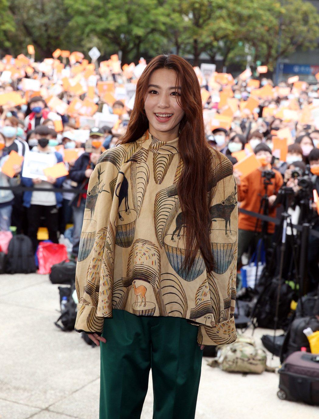 田馥甄下午舉行「田簽名會」台北站記者會。記者曾吉松/攝影