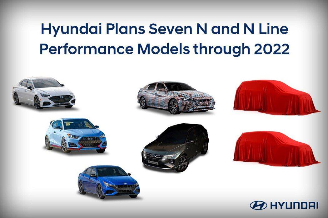 Hyundai計畫在2022年前將旗下N Performance車型擴增至七款。...