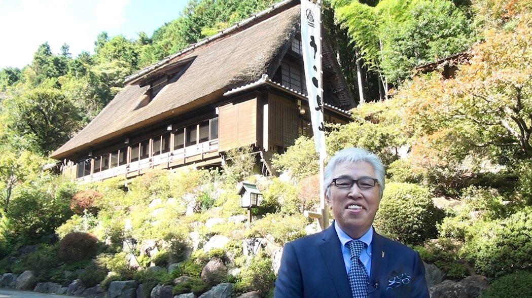 日本Ukai集團社長大工原正伸為《狂.禪》展覽開幕跨海獻上祝福。金馬賓館/提供