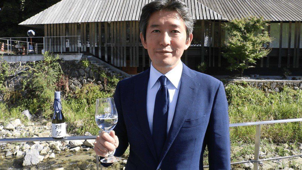日本旭酒造社長櫻井一宏為《狂.禪》展覽開幕跨海獻上祝福。金馬賓館/提供