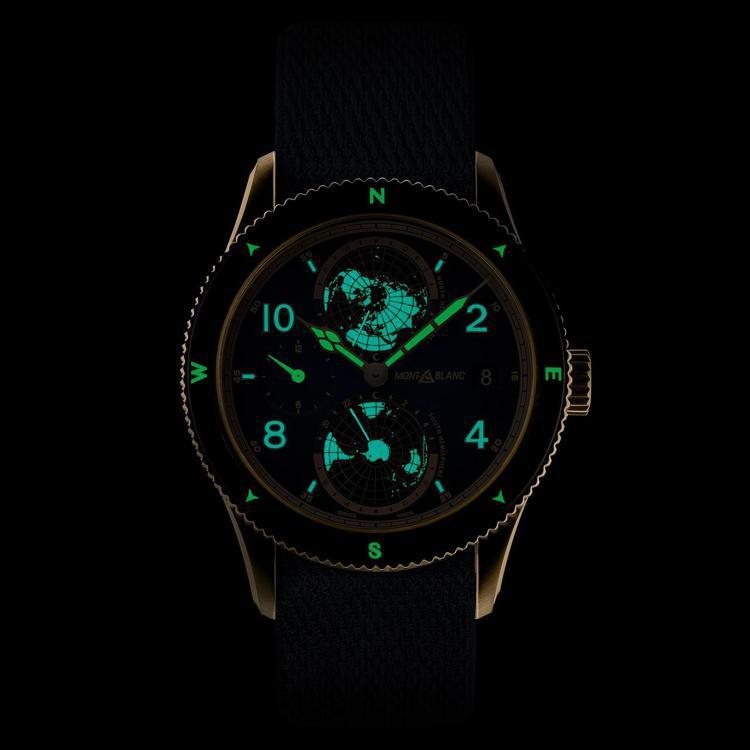 即便在黑暗中都能發出光源的夜光塗料,讓腕表在極限環境下,都能清楚辨讀時間。圖 /...