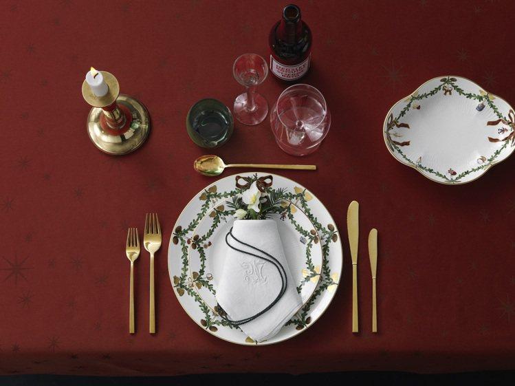 皇家哥本哈根的「經典聖誕系列」餐瓷。圖/皇家哥本哈根提供