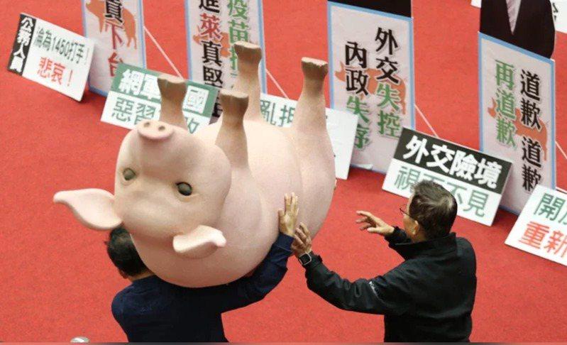 國民黨9度杯葛行政院長蘇貞昌上台施政報告。報系資料照片