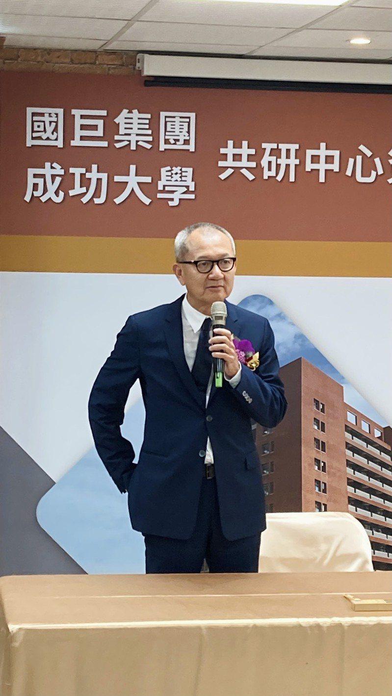 國巨董事長陳泰銘。記者李孟珊/攝影。