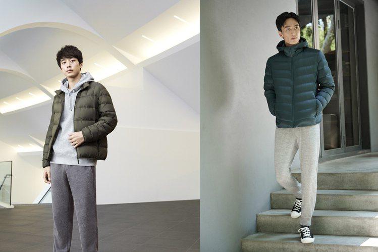 UNIQLO找來日本男星坂口健太郎、李英宏詮釋新一季的羽絨外套系列。圖/UNIQ...