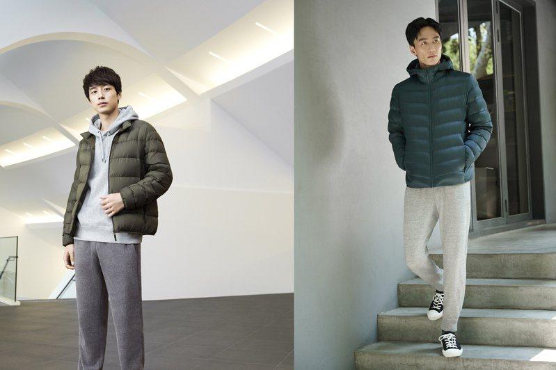 UNIQLO找來日本男星坂口健太郎、李英宏詮釋新一季的羽絨外套系列。圖/UNIQLO提供
