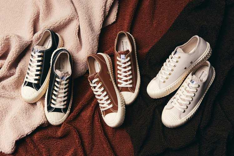 餅乾鞋EXCELSIOR秋冬新款,大玩毛料材質,讓每一雙外觀看起來都超療癒。圖/...