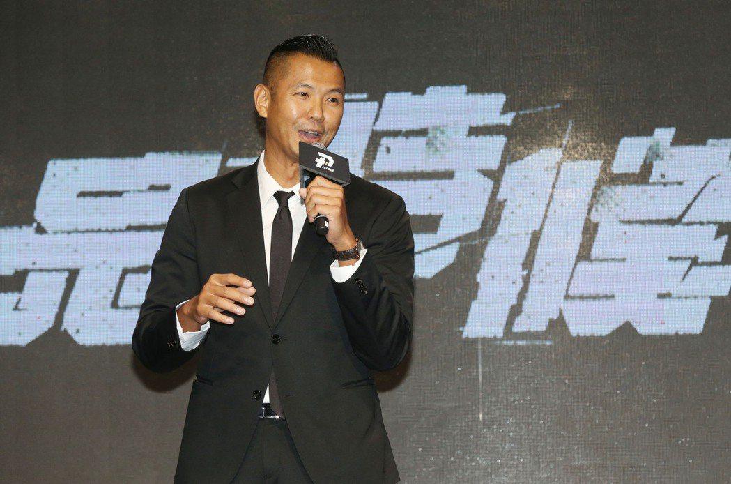 台灣職籃P.LEAGUE+執行長陳建州出席新成立聯盟首次官方記者會亮相。記者林俊