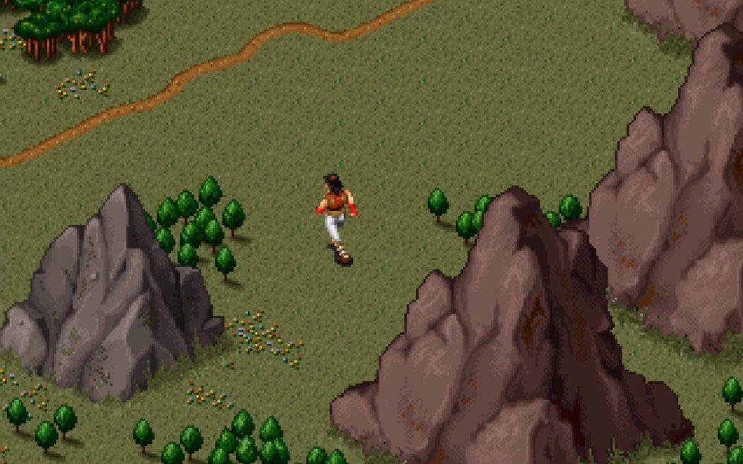 玩家一開始就可以在廣大的地圖上自由移動,只是因為沒有小地圖等導引功能,玩家必須自...