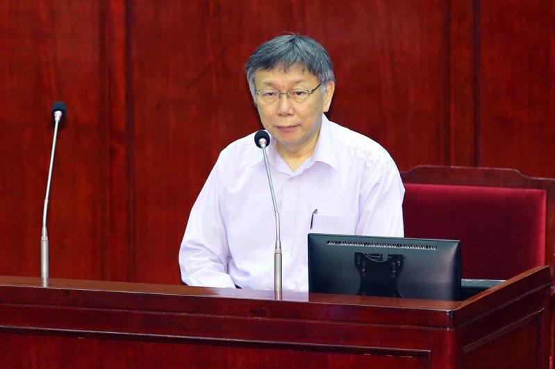 台北市長柯文哲。聯合報系資料照片/記者許正宏攝影