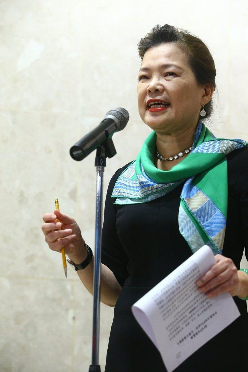 經濟部部長王美花下午針對RECP舉行記者會,她表示會就各別的產業細部去了解有什麼影響。記者葉信菉/攝影