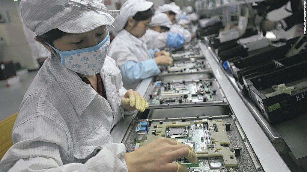 電子代工廠示意圖。本報資料照片