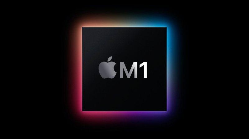 ▲隸屬Apple Silicon處理器系列成員的M1處理器