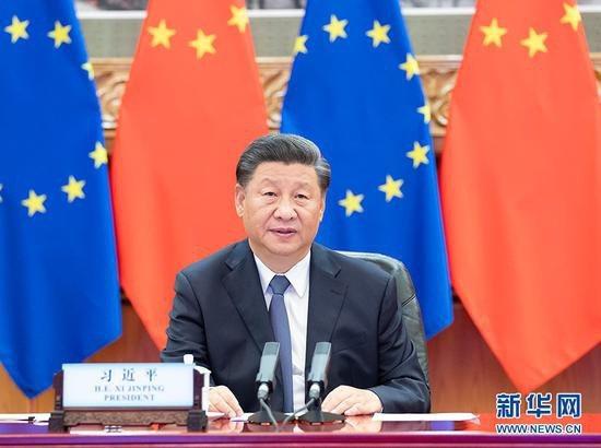除了RCEP,大陸國家主席習近平平提出,大陸還將加快中歐投資協定(BIT)、中日韓等自由貿易協定談判進程。圖/取自新華網