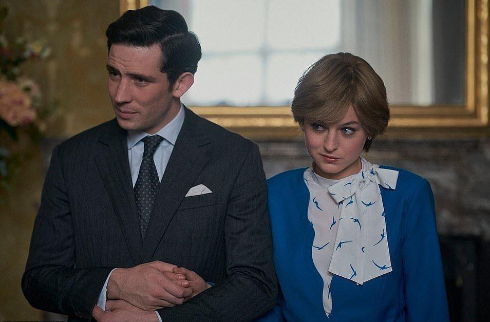 「王冠」中的查爾斯與黛安娜,並不如外界原本想像有如童話般美好。圖/摘自Netfl...