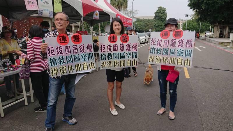 台南市文化局基於安全等考量,將在水交社文化園區古蹟區設穿透性圍籬,居民發起連署陳情,反對設圍籬。記者鄭惠仁/攝影