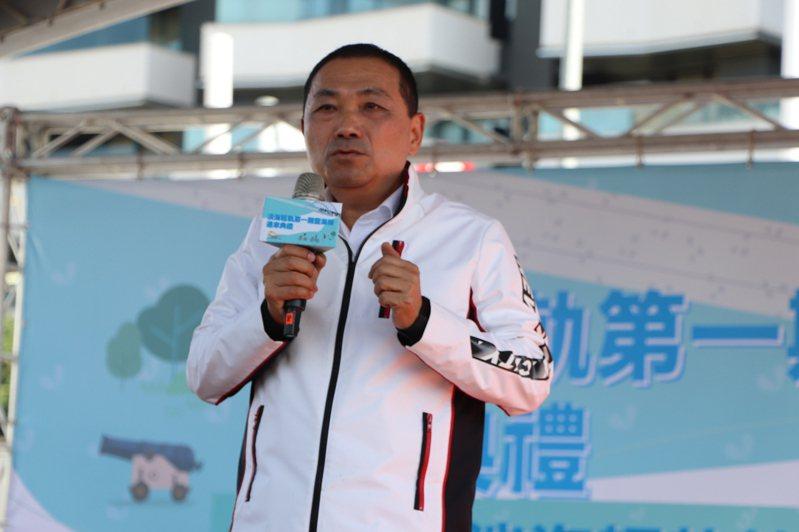 新北市長侯友宜今出席淡海輕軌藍海線第一期通車典禮。記者吳亮賢/攝影
