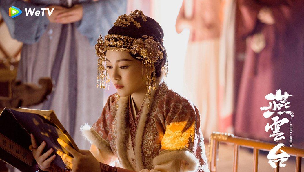 唐嫣演出歷史著名遼國蕭太后。圖/WeTV海外站提供